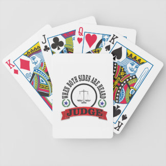 red scales judge bicycle playing cards