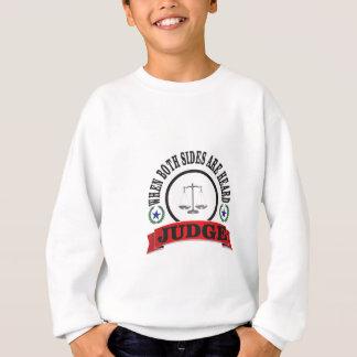 red scales judge sweatshirt