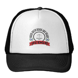 red scales judge trucker hat