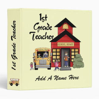 Red Schoolhouse 1st Grade Teacher Binder