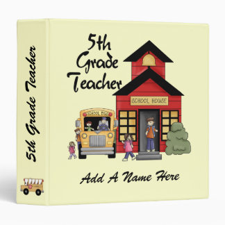 Red Schoolhouse 5th Grade Teacher Binder