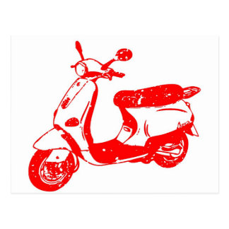 Red Scooter Postcard