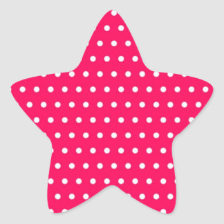 red scores polka hots dabs samples scored DOT Star Sticker