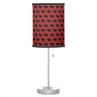 Red Scottish Terrier Scotty Dog Lamp