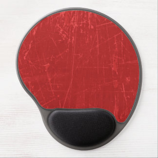 Red Scratched Aged and Worn Texture Gel Mouse Mats