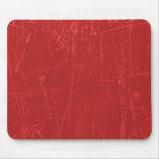 Red Scratched Aged and Worn Texture Mousepads
