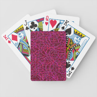 Red scribbled lines pattern poker deck