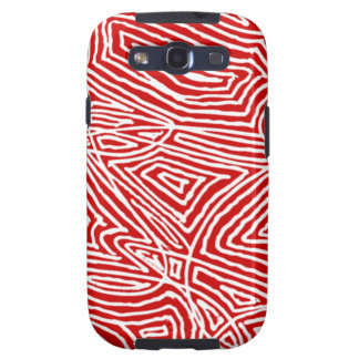 Red Scribbleprint Samsung Galaxy S3 Covers