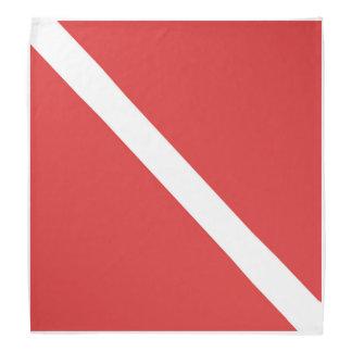 RED SCUBA FLAG BANDANA - DIVER´S FLAS SYMBOL