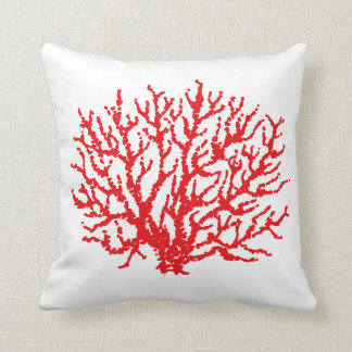Red Sea Coral Beach Summer Throw Pillow Decor