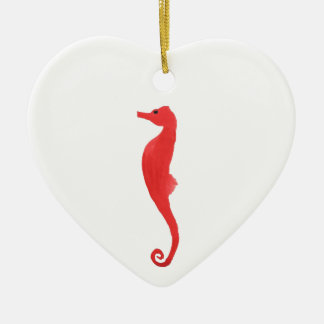 Red Sea Horse Ceramic Ornament