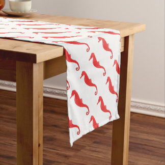 Red Sea Horse Short Table Runner
