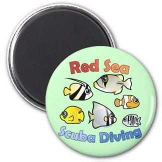 Red Sea Scuba Diving Magnet