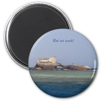 Red sea wreck. magnet