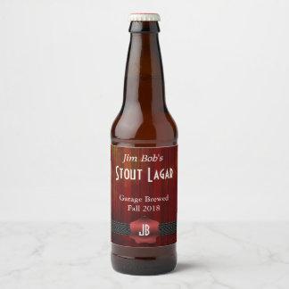 Red Seal Monogrammed Custom Beer Label