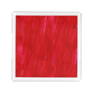 Red Seamless Background Abstract And Watercolor Acrylic Tray