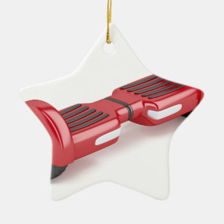 Red self-balancing scooter ceramic ornament