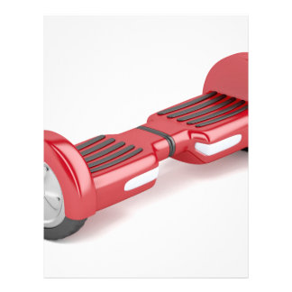 Red self-balancing scooter letterhead