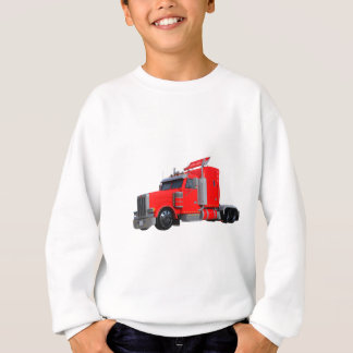 Red Semi Tracter Trailer Sweatshirt