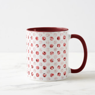 Red sequin effect dot pattern Drinkware Mug