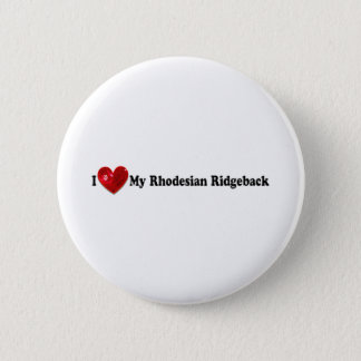 Red Sequin Image Rhodesian Ridgeback Dog 2 Inch Round Button
