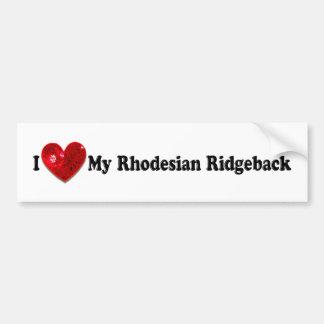 Red Sequin Image Rhodesian Ridgeback Dog Bumper Sticker