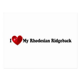 Red Sequin Image Rhodesian Ridgeback Dog Postcard