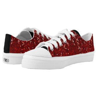 Red Sequins Ruby Slippers Black Sneaker Sparkle