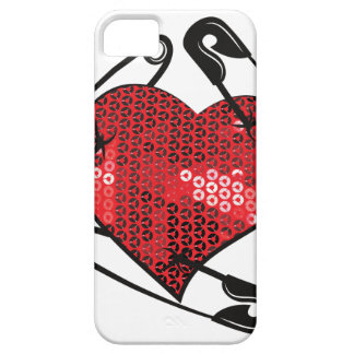 red sequins safety pin iPhone 5 cover