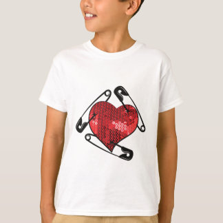 red sequins safety pin T-Shirt