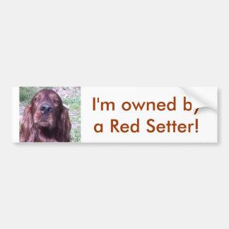 Red Setter Bumper Sticker