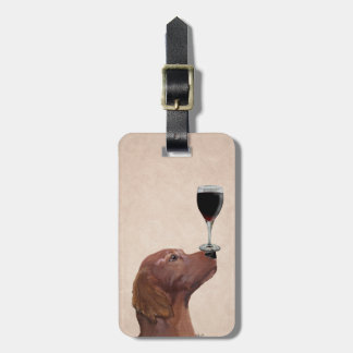 Red Setter Dog Au Vin 2 Luggage Tag