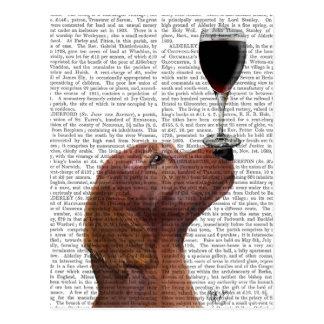 Red Setter Dog Au Vin Postcard