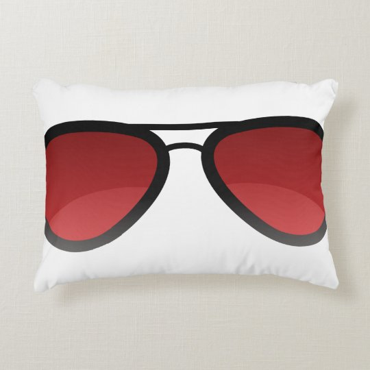 "Red Shades Brushed Polyester Pillow 16"" x 12"""