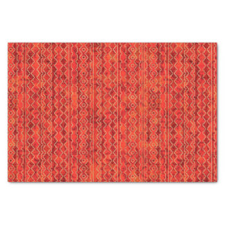 Red Shades Geometric Stripes Tissue Paper
