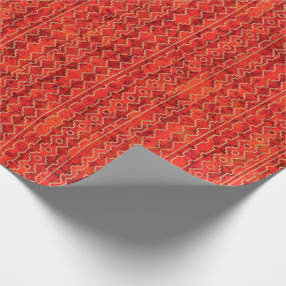 Red Shades Geometric Stripes Wrapping Paper