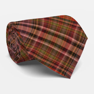 Red shades plaid pattern with a hint of green tie
