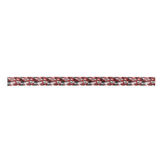Red Shadows Camo Satin Ribbon