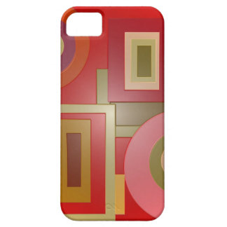 red shapes pop art case for the iPhone 5