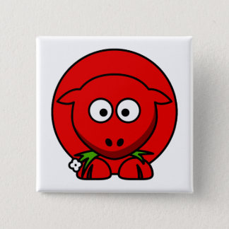 Red Sheep 2 Inch Square Button