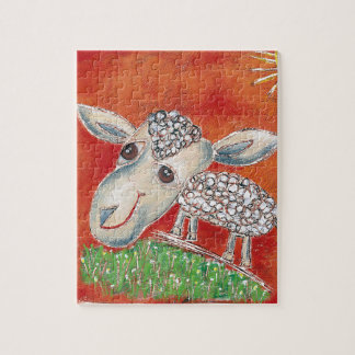 red sheep jigsaw puzzle