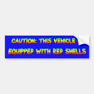 red shells bumper sticker