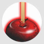 Red Shiny Apple -  Forbidden Fruit Round Stickers