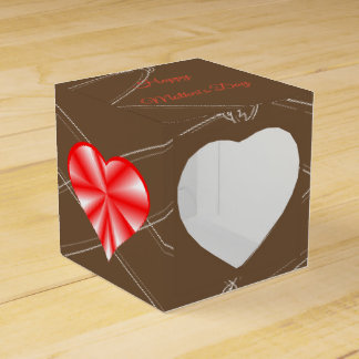 Red Shiny Heart - Happy Mother's Day! Favor Box