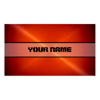 Red Shiny Stainless Steel Metal Business Card