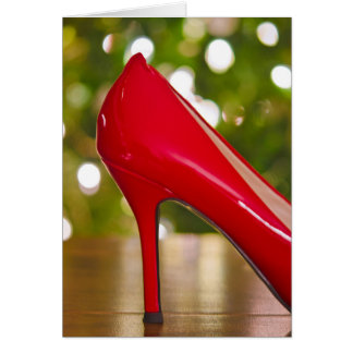 Red Shoe Christmas Card