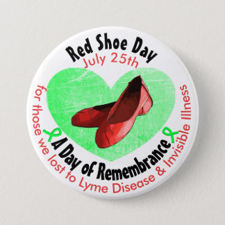 Red Shoe Day, A Day of Remembrance 3 Inch Round Button
