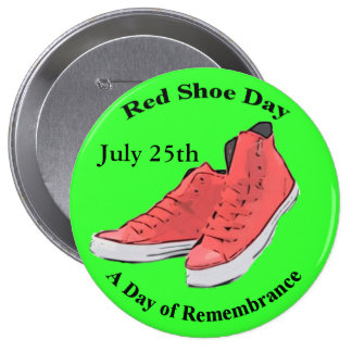 Red Shoe Day Lyme Awareness Button