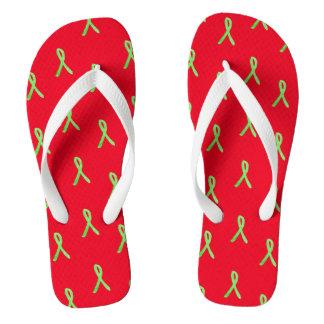 Red Shoe Day Lyme Disease Awareness Sandals Flip Flops