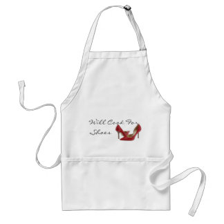 red shoe, Will Cook For Shoes Adult Apron